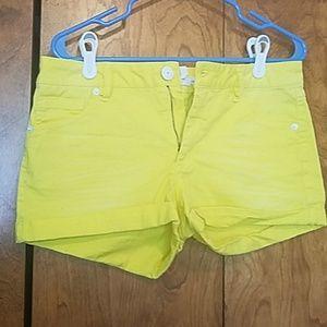 Yellow BCBGeneration Shorts